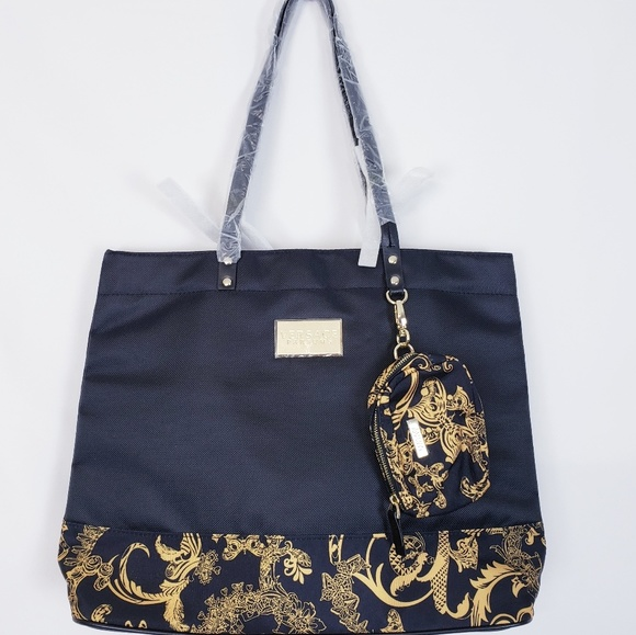 good looking best cheap classic style of 2019 Versace Parfums Black and Gold Tote Bag